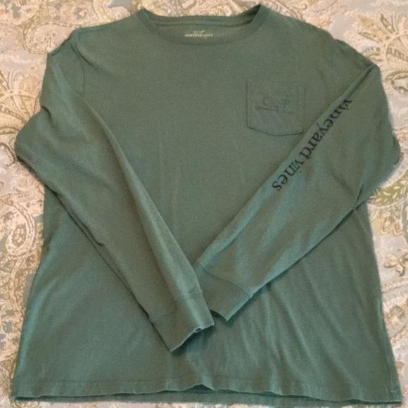 b59ae0b6 Vineyard Vines Shirts & Tops | Green Long Sleeve Whale T Shirt Xl ...
